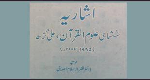 اردو رسائل کے قرآنی مضامین کا اشاریہ